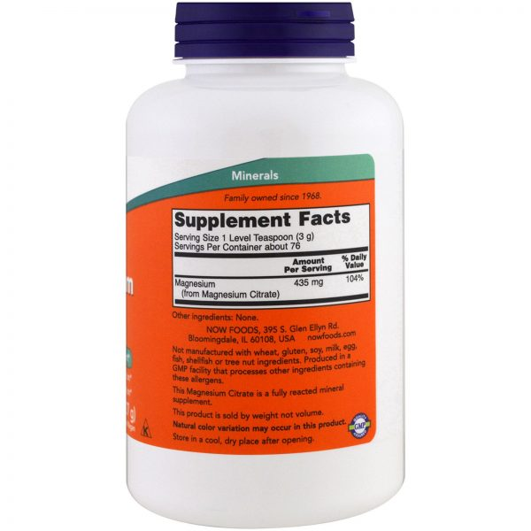 Now Foods, Magnesium Citrate Pure Poeder,(227 g) Biotheek.com