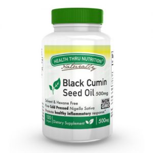 Black Seed Oil (koud geperst) 500 mg (niet-gmo) 100 softgels