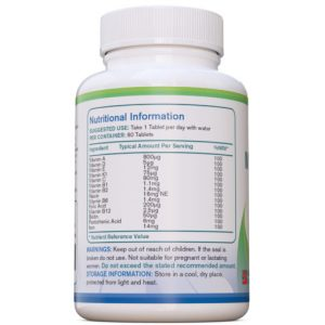Multi Vitaminen Plus ijzer, 60 tabletten | AtoZ Pure Health Biotheek.com