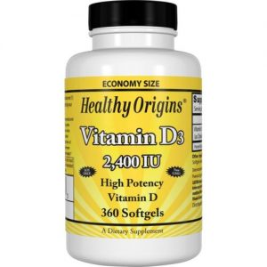 Vitamine D3 2400 IE (360 Softgels) - Healthy Origins Bigbizz.nl Biotheek.com