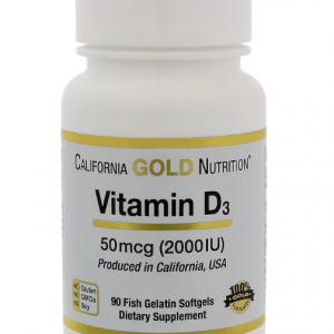 Vitamine D3 2000IU - 90 Fish softgels California Gold Nutrition Biotheek.com