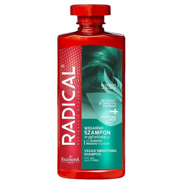 RADICAL Vegan smoothing shampoo voor alle haartypes 400ml Biotheek.com