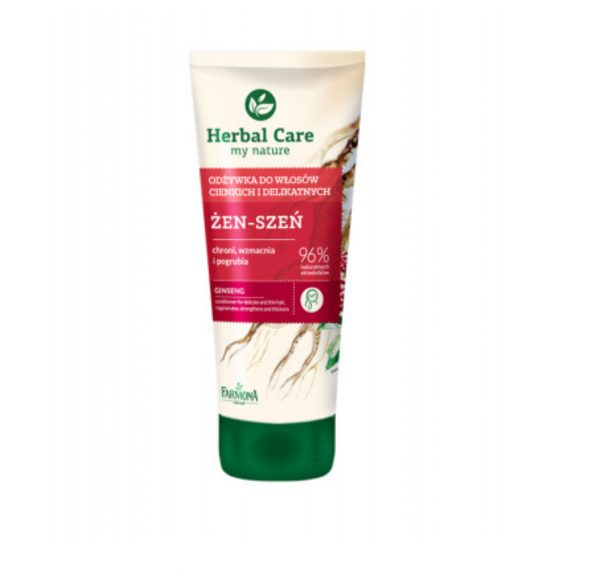 Herbal Care Haar conditioner met ginseng extract, voor dun en fragiel haar, 200ml Biotheek.com