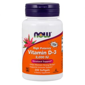 Vitamine D3 2000 IU – 240 softgels – Now Foods Biotheek.com