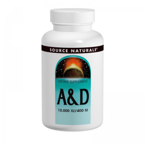 Vitamine A 10.000IU & Vitamine D3 400IU – Source Naturals – 100 tabletten Biotheek.com