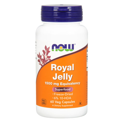 Royal Jelly Superfood,1500mg x 60 Veggie Capsules | Now Foods Biotheek.com